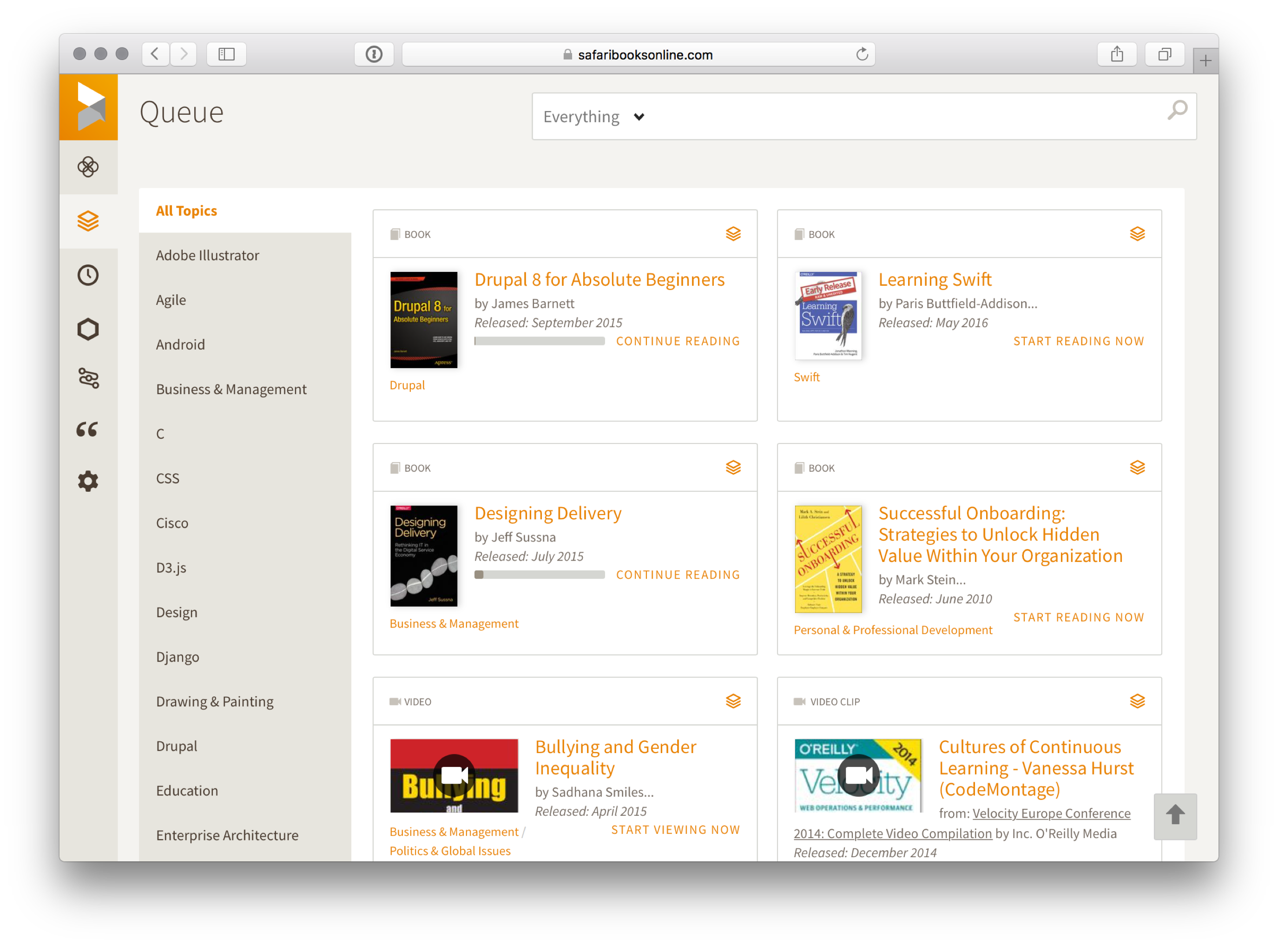 Safari Books Online Screenshot
